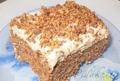 Picture of Recept - Pařížské řezy - v jednoduchosti je kouzlo Slovak Recipes, Russian Recipes, Chocolate Coconut Slice, Desserts Thermomix, Carrot Cake, Sweet Tooth, Bakery, Cheesecake, Cooking Recipes