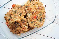Kyllingebøffer med grøntsager - gode til pitabrød og burgerboller eller som tilbehør til salat og kartofler.