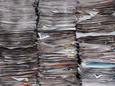 photo of stacked newspapers | Stacked Newspapers (Horizontal) | Flickr - Photo Sharing!