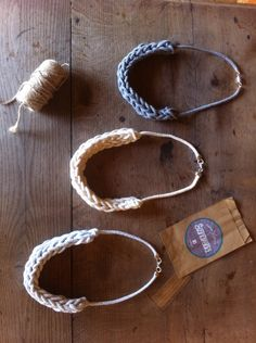 Tshirtyarn cotton necklace handmade