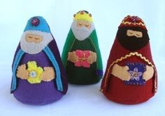 Nativity Felt Set - Patterns and Instructions Felt Christmas Ornaments, Christmas Nativity, A Christmas Story, Jesus Mary And Joseph, Felt Patterns, Pdf Patterns, Operation Christmas Child, Nativity Crafts, Christmas Sewing