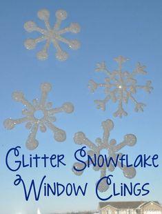 4895ef3e54572 glitter snowflake window clings 4  Diy Crafts