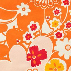 Alexander Henry House Designer - Flower Garden - Oska in Orange