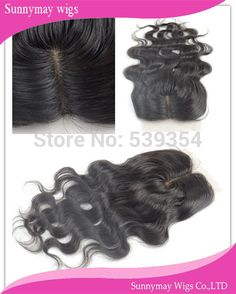 Natural Looking Middle Part Body Wave Peruvian Virgin Hair Silk Base Lace Top Closure In Stock Natural Brown Color