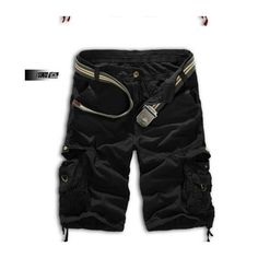 Men Shorts Casual Cargo Combat Camouflage Sports Pants     black - Mega Save Wholesale & Retail