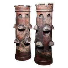 Crazy Mottled Chimney Pots