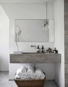 vosgesparis: Inspiration for your bathroom | grey shades