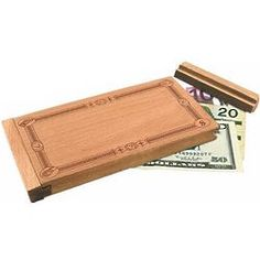Don't Count On It Wooden Money Puzzle Box