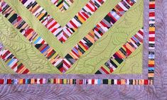 Colorful Contemporary Quilts with Unique Striped Patchwork Designs