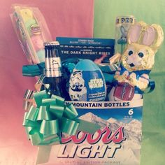 Diy easter basket for him boyfriend husband fiance holiday easter basket for the boyfriend negle Gallery