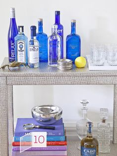 Countdown to #Christmas: Set Up a Holiday Bar Cart (http://blog.hgtv.com/design/2012/12/15/countdown-to-christmas-set-up-a-holiday-bar-cart/?soc=pinterest)