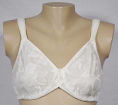WACOAL Ivory Lace Awareness Underwire Bra 34D 85567 Lined Cups No Padding #Wacoal #FullCoverageBras