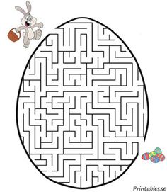Easter maze One of the most historical Easter time products, as far as the search Easter Games, Easter Activities, Activities For Kids, Easter Art, Easter Crafts For Kids, Diy For Kids, Easter Worksheets, Easter Printables, Easter Coloring Pages