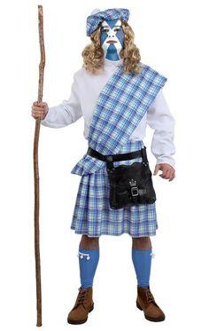 Disfraz Escocés. Braveheart  Conviértete en un gran guerrero como William Wallace en la película Braveheart.