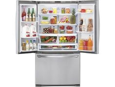 LG - 27.7 Cu. Ft. French Door Refrigerator - Stainless Steel - AlternateView2 Zoom