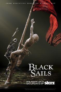 "Teaser art for the second season of ""Black Sails."
