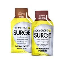 body glove surge, chocolate energy gel. Two pack sample