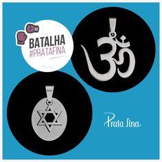 #Batalha Prata Fina: Estrela de Davi ou OM, qual a sua vibe? Estrela de Davi: http://pol.vu/yf OM: http://pol.vu/yg