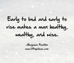 If we look at the daily routines of some highly successful people, one thing seems to be common http://www.liftupideas.com/awesome-early-bird-wake-early/