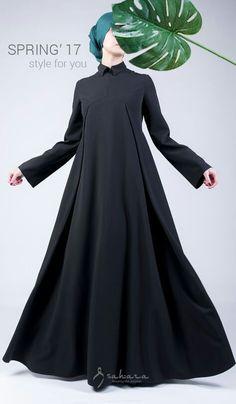 model dress with a removable tie brand Sa Islamic Fashion, Muslim Fashion, Modest Fashion, Fashion Dresses, Modest Dresses, Girls Dresses, Hijab Style Dress, Modele Hijab, Mode Abaya