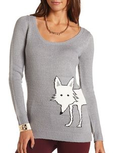 Animal Graphic Pullover Sweater: Charlotte Russe