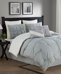 Kiss Pleats Reversible 8-Piece Comforter Sets - Bed in a Bag - Bed & Bath - Macy's