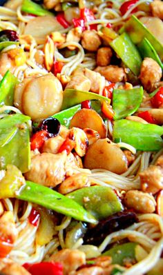 KUNG PAO CHICKEN NOODLE STIR FRY RECIPE