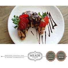 Delicious mouthwatering treats from Meade Cafe George - straight from our own bakery. What's your favourite? #bakery #meadecafe