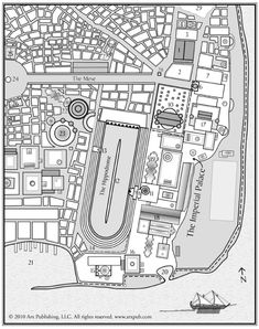 Map of Constantinople Siege Of Constantinople, Rome, Historical Fiction Novels, Retro Rocket, Minecraft City, Istanbul City, Byzantine Art, Fantasy Map, Roman Empire