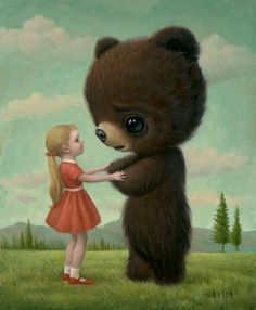 oh, mark ryden. this is a more mild piece of his than i'm used to, but it's one of my favorites.