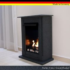 8e84a7a9fe54d Gel + Ethanol Fireplace Madrid Deluxe - Choose from 9 colors (Granite dark)