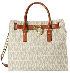 12d5aa4a4389 MICHAEL Michael Kors Vanilla Hamilton Large Logo 30t2ghmt3b Tote. Get one  of the hottest styles