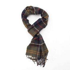 Barbour's Merino Cashmere Tartan Scarf is made from 90% merino wool, 10% cashmere to keep you warm in all weather.  ●   Available in Classic Tartan- USC0002TN11