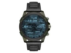 Personalized style meets high-tech functionality with the Diesel On Full Guard touchscreen smartwatch. A olive IP case is paired with a black leather strap and Smartwatch, Diesel Watches For Men, Fitness Tracker Bracelet, Thing 1, Fitness Watch, Casio Watch, Digital Watch, Emporio Armani, Shopping