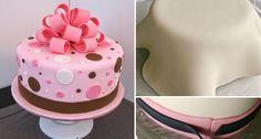 Πώς καλύπτουμε τούρτα – Cake με ζαχαρόπαστα Βήμα – Βήμα - Toftiaxa.gr Pos, Cake, Desserts, Tailgate Desserts, Deserts, Kuchen, Postres, Dessert, Torte