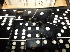 Vintage full set of 28 black Bakelite/Catalin dominoes by Cardinal in original box (and, with orig instructions! Dinner Party Games, Full Set, 1940s, Repurposed, Jewelry Making, Gift Wrapping, The Originals, Box, Vintage