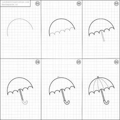 How to draw an umbrella.