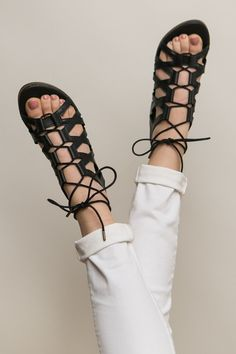 Step By Step Sandals in Black | ShopDressUp.com