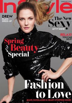 Drew Barrymore InStyle Magazine Photos February 2018 Issue