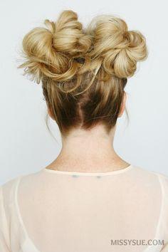 5 Summer Mini Bun Hairstyles – MISSY SUE