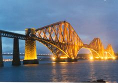 Forth Rail Bridge an engineering miracle. I loved living there.