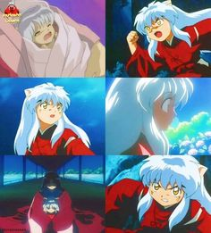 Child InuYasha and his human mother Izayoi - screenshots from InuYasha