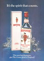 Beefeater Gin Crown Jewel of England 1982 Ad Picture