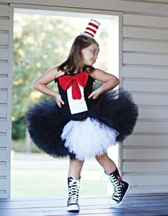 Custom boutique Cat in the Hat inspires tutu dress by RainbowsLNG