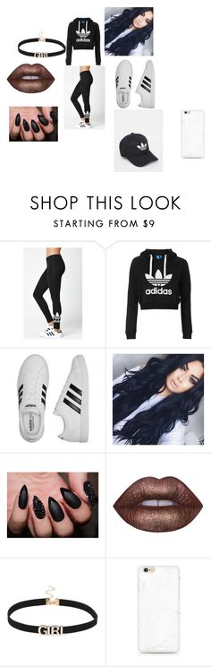 """""""Adidas"""" by lightingchamp on Polyvore featuring adidas, Topshop and Lime Crime"""