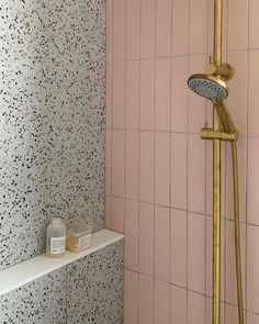 pink bathroom Shop the Riverton Matt Pink Subway Tiles and Redfern mixed tiles to create this look. Available on our website today! White Subway Tile Bathroom, Subway Tiles, Pink Bathroom Tiles, Bright Bathrooms, Bath Tiles, Modern Bathrooms, Bathroom Spa, Laundry In Bathroom, Target Bathroom