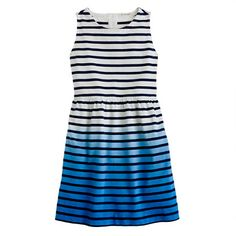 girls stripe dip-dye dress.