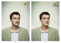 書かれたヒゲ?消されたヒゲ? インサイトをついたプリント広告 | AdGang  オランダのアムステルダムでBICが制作したひげ剃りのプリント広告。  BICといえば「ボールペンブランド」という社会に浸透するイメージを、逆手に取って表現されたクリエイティブがこちら。   最下部にpage3と書かれた左側のページには、ひげの落書きをされた男性。  page5と書かれた右側のページにはひげの消えた男性。右上を見るとボールペンではなく、ひげ剃りが置かれています。  「誰かの顔に落書きをする」のではなく、「誰かの顔から落書きが消える」という意外性で目に留まる、思わず見入ってしまうビジュアルになっています。  見る人の予想を上手く裏切るプリント広告でした。