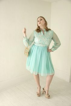 Vintage teal silver dress, metallic blue floral long sheer chiffon sleeve formal, L 1960s 1970s retro