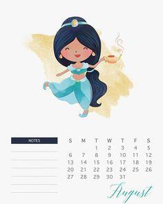 Calendário Princesas Disney para você imprimir | Nerd Pai - O Blog do Pai Nerd